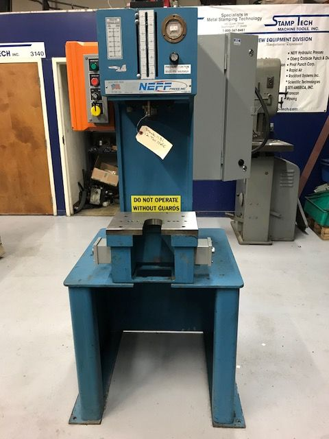 12 TON RECONDITIONED NEFF HYDRAULIC C-FRAME PRESS, MODEL D12-5M, S/N ...